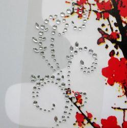 [سكرببووك] يخلي لاصق بلّوريّة لون [سلف-دهسف] [رهينستون] زهرات لاصق لأنّ [سكرببووك] مفكّرة زخرفيّة