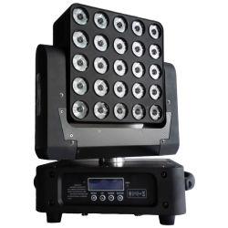 Stade DMX lumière LED de commande de la matrice de pixels tête mobile 25 X 10W RGBW