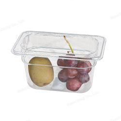 商業台所は透明なプラスチック Gastronorm の鍋の食糧サービス Gn の容器を提供する