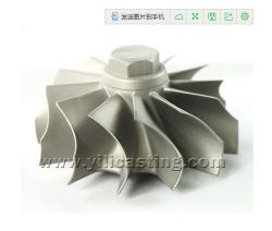 fundición a la cera perdida Superalloy rueda de turbina utilizados para la Turbina de Gas