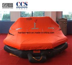 10 O homem recipiente GRP Pack uma vida de embarcações de bóia inflável de borracha (A10)
