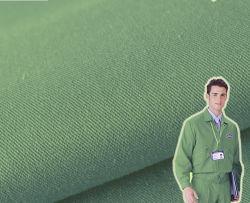 緑の剛さのWorkwearポリエステル綿のあや織りファブリック
