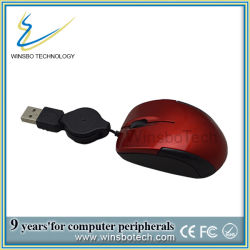 Hot Sell Mini Retractable USB Optical Mouse