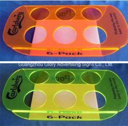 شفّافة لون صبّ بلاستيك شفّاف حامل أكريليكيّ لأنّ جعة