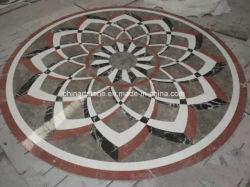 Piastrelle in marmo granito con motivo a getto d'acqua per progetto al piano della lobby della Villa/Hotel