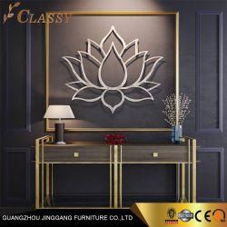 大きいブラシをかけられた花の金属の壁の芸術のホーム装飾のステンレス鋼のクラフト