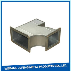 90 retangular penetrância cotovelo em aço galvanizado Tdf ventilação PMS do sistema de HVAC CONDIÇÃO DE AR DE AR