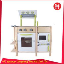Les enfants le favori de jouets de cuisine en bois vert