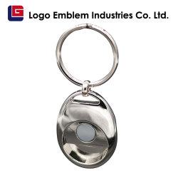 Fördernde Verkaufs-kundenspezifische BRITISCHE Firmenzeichen-Metalllaufkatze-Scheinmünze Keychain