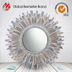 Sun-Form-Spiegel-hölzerne Kunst-dekorativer Wand-Spiegel (LH-M170603)