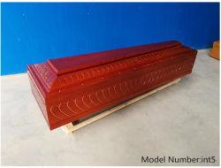 Funeral de madeira sólida caixão e estojos para venda a quente