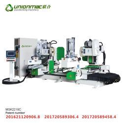 CNCの二重端の特別な整形ほぞ機械純木の家具のためのマルチヘッドほぞ穴機械
