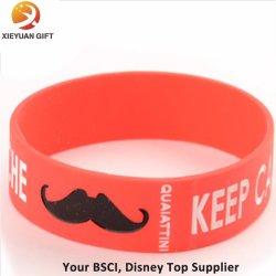 Красный Moustach силиконовый браслет резиновые Браслеты для подростков Мужчины Женщины