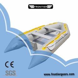3,6 m/ 12FT PVC/ Hypalon Inflatable Sport Offres Bateau de pêche avec l'aluminium/Air/bois mat/plancher à lattes