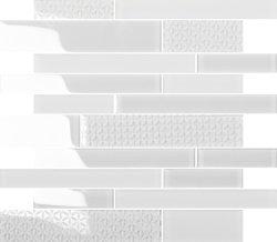 Bande de verre gris en brique mosaïque de cristal pour la conception de l'intérieur