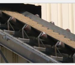 Chevron transportador de caucho negro el correaje de cemento