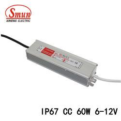 60W 6-12V 5A, sortie AC-DC étanche Driver de LED à courant constant