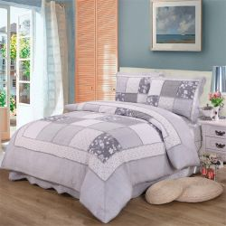 ベストセラーの100%年の綿のパッチワーク及びFrilledキルトの一定のホーム寝具セット