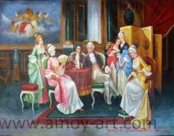 ホーム装飾のための古典的な図油絵のキャンバスの壁の芸術