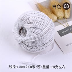 100m/Roll 1,5mm Two-Color Kindergarten hand-Woven touw
