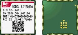 Neue SIM7100A Daten übertragen Baugruppe mit Bescheinigungen FCC Ptcrb/IS AT&T