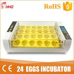 Hhd 공장 판매를 위한 자동적인 작은 24의 계란 부화기