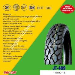 16inch OEM ISO CCC ECE를 가진 새로운 6pr 나일론 벨트 편견 타이어 자연 고무 혼합 패턴 기관자전차 관이 없는 타이어 (110/90-16)