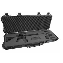 Valise Trolley militaire imperméable en plastique dur canon de fusil de cas