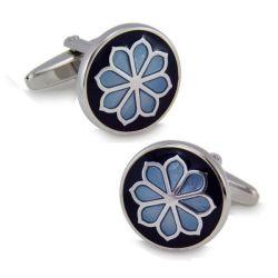 Speciaal Metalen Flower Manchetknopen Voor Promotiecadeau (A9)