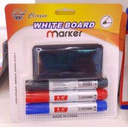 Placa branca com marcador Quadro Branco Eraser definido para o Office e promoção