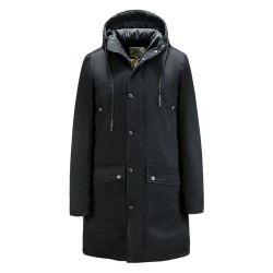 Nouveau design ODM Fausse Fourrure Satin de gros phoque à capuchon femmes manteaux d'hiver, les femmes Long Down Jacket