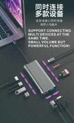 小型Dpの音声のための最新のモデル銀USBのタイプCケーブル3.0のハブ