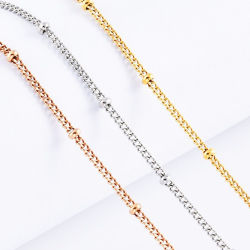 أكسسوارات مجوهرات الموضة سلسلة من العقد الدولي مع قنوات فضائية من الفولاذ المقاوم للصدأ مجوهرات سيدة