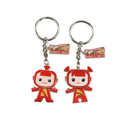 Promotie Custom Metal Key Shape Sleutelhanger Logo gepersonaliseerde 3D Cute souvenir Naam Key Holder Sleutelhanger, sleutelhanger voor Key