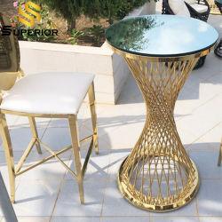 Muebles de terraza Bar Bar de vinos de mesa con sillas taburete alto