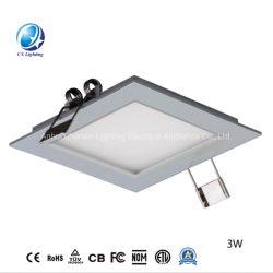 Accueil du panneau d'éclairage à LED Lumière 18W 24W Slim à plat rond Carré de la lampe de plafond