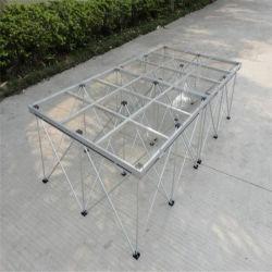 알루미늄 화이트 아크릴 휴대용 플랫폼 유리 풀 대여 실외 플랫폼 이동식 휴대용 무대