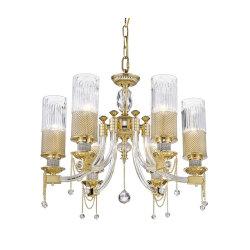 Salle à manger Villa lustre suspendu au plafond haut lumière Restaurant K9 grande et moderne de cuivre pendentif cristal de lumière pour la salle de séjour