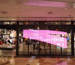 Pared de vídeo HD el módulo de malla de vidrio pantalla LED pantalla LED Publicidad P3.91-7.8mm Pantalla LED de interior transparente