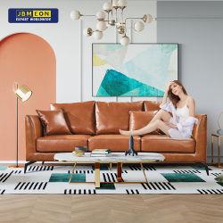 2021 Jbm un style moderne de loisirs Bureau en cuir marron PU canapé 3 siège salle de séjour un canapé pour la maison