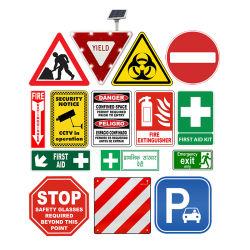 Benutzerdefinierte Aluminium Composite Sicherheitswarnung LED Solar Road Dreieck rund Quadratisches Schild Mit Reflektierdem Verkehrszeichen