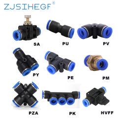 As conexões rápidas pneumática Py/PU/PV/PE/Hvff/SA/Pk 4 a12mm Mangueira Plástica