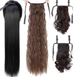 Para encaixar no cabelo falso rabo-de-Cabelo Peruca com cabelos Ganchos Pony Tail Extensão pêlos sintéticos resistentes ao calor