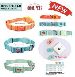 Hundehalsband mit Apple Air Tag Halter für GPS-Tracking