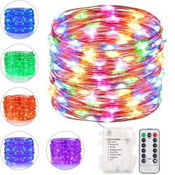 LED 끈 빛, 소형 배터리 전원을 사용하는 구리 철사 별 요전같은 빛