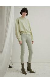 スプリングサマーのオリジナルスタイルスリムコットン 100% ソリッドジーンズ ガールズ女性のためのズボンの毎日の摩耗のオフィスの女性身に着けていること