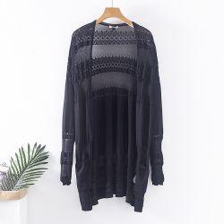 Spring Summer Lace Fancyの女性のニット速い配達在庫のカーディガンのセーター