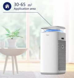 空気清浄器Midea 5層フィルター本当HEPA Multifunctionality 30-65m2