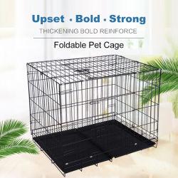 Opvouwbare dubbele deur Huisdier Huis Kat Hond Cage