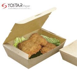 生物分解性のクラフトのボール紙の食糧配達包装は食事の食糧紙箱をカスタム設計する